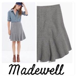 MADEWELL ATELIER Women's Flounce Wool Blend Skirt